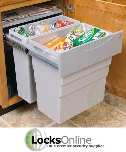 Pull out waste bins - LocksOnline