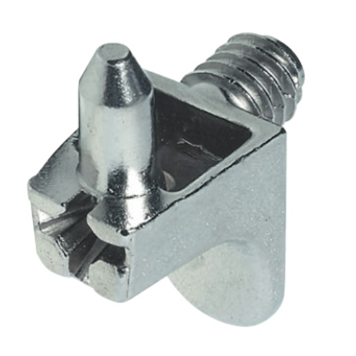 Shelf support, plug in, with thread, for Ø 5 mm hole