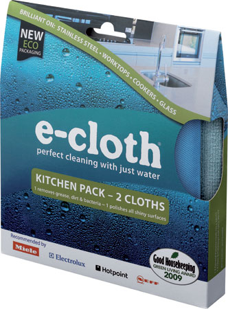 E-Cloth Kitchen Kit - General Purpose & Glass Polishing Cloths