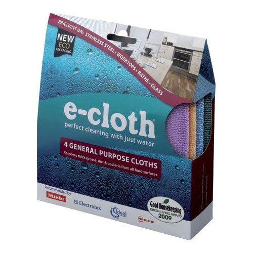 E-cloth, general purpose pack, 4 cloths