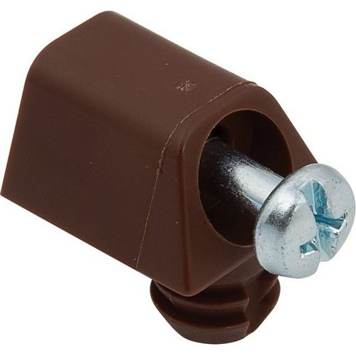 Dowel cabinet connector with pre-fitted screw