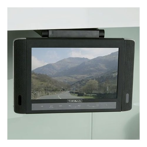 "Image of 10.2"" Portable TV and DVD player with brackets"
