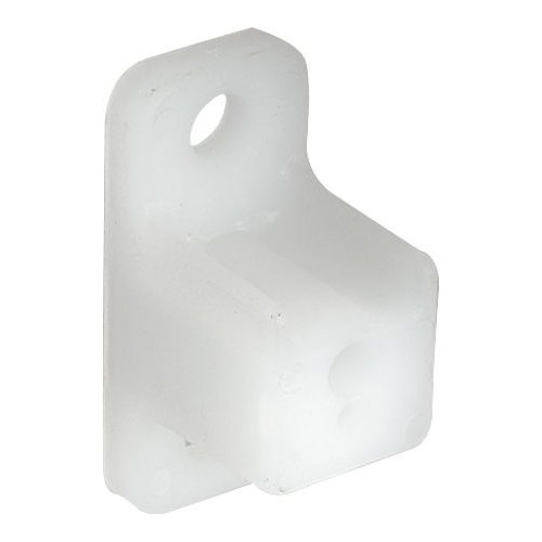 Pearl White Plastic Stand Off Bracket, 25mm Thick