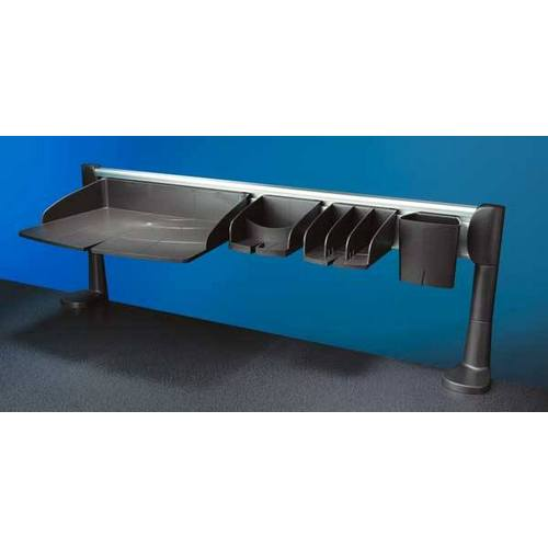 Office organiser support bar and trays set