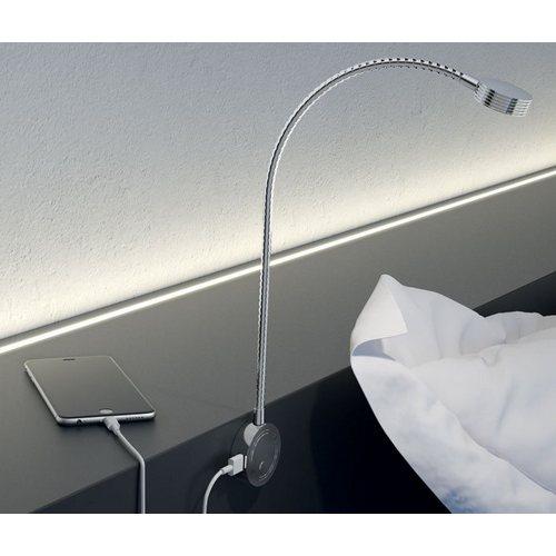 Image of Loox 12V LED 2034 flexible reading light with USB