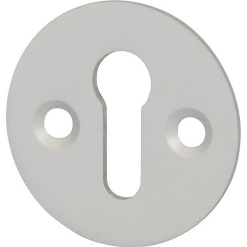 Plain escutcheon, standard keyway, aluminium