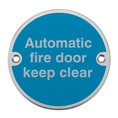 Compare retail prices of 'Automatic Fire Door Keep Clear' Mandatory Sign with Fixing Screws to get the best deal online